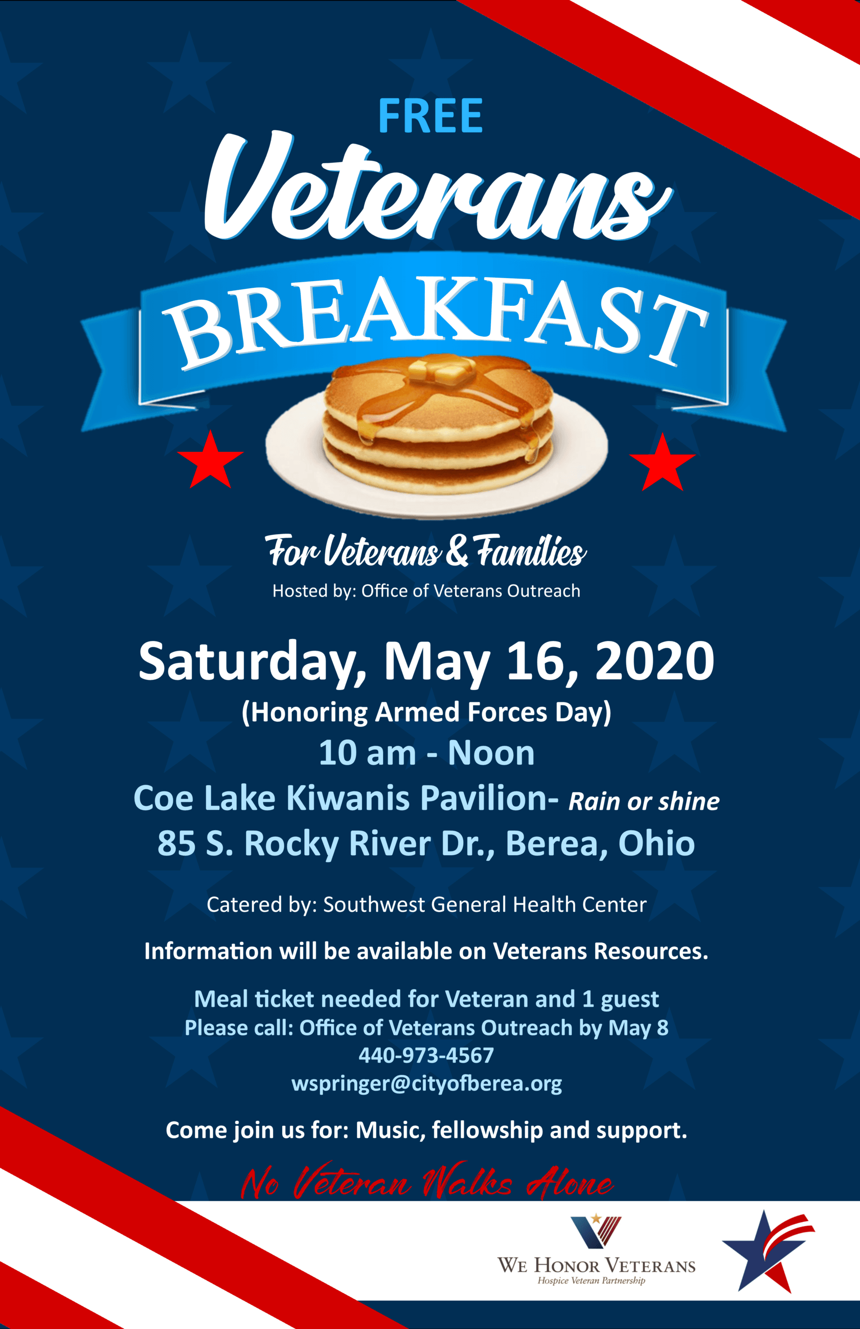 Veterans Breakfast Flyer MAY- ARMED FORCES POSTER 2020