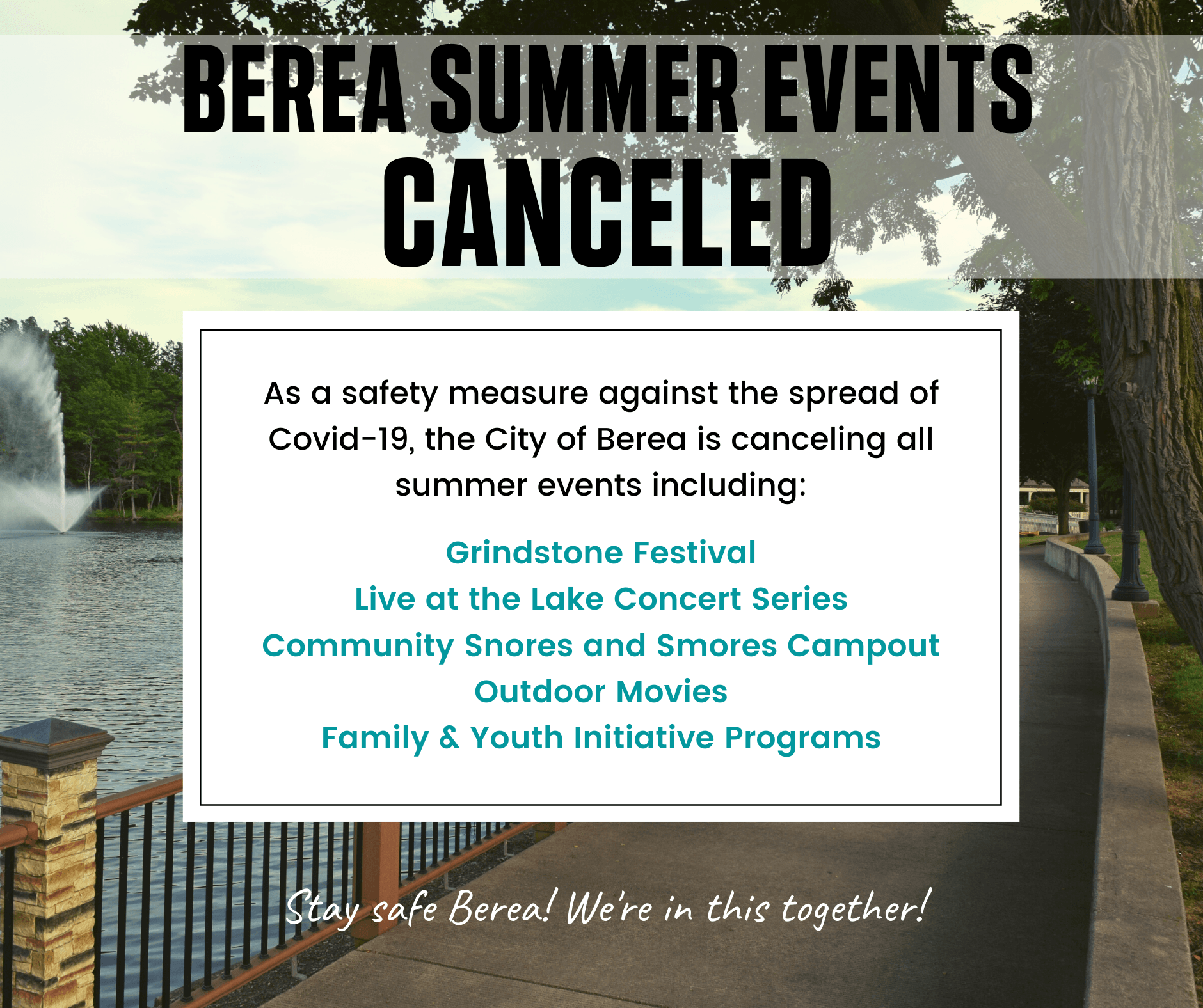 summer events canceled ad
