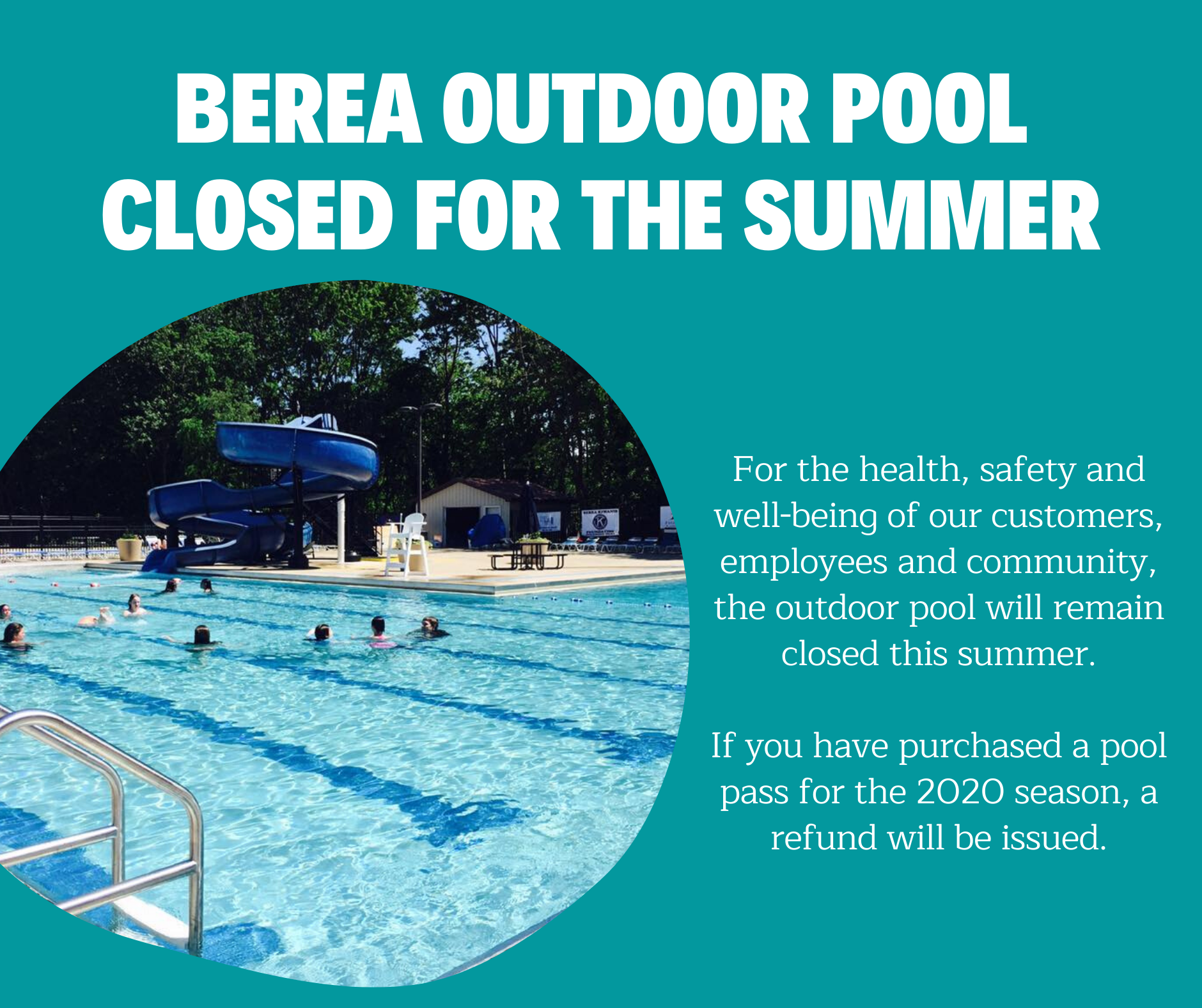 Pool closed for summer ad