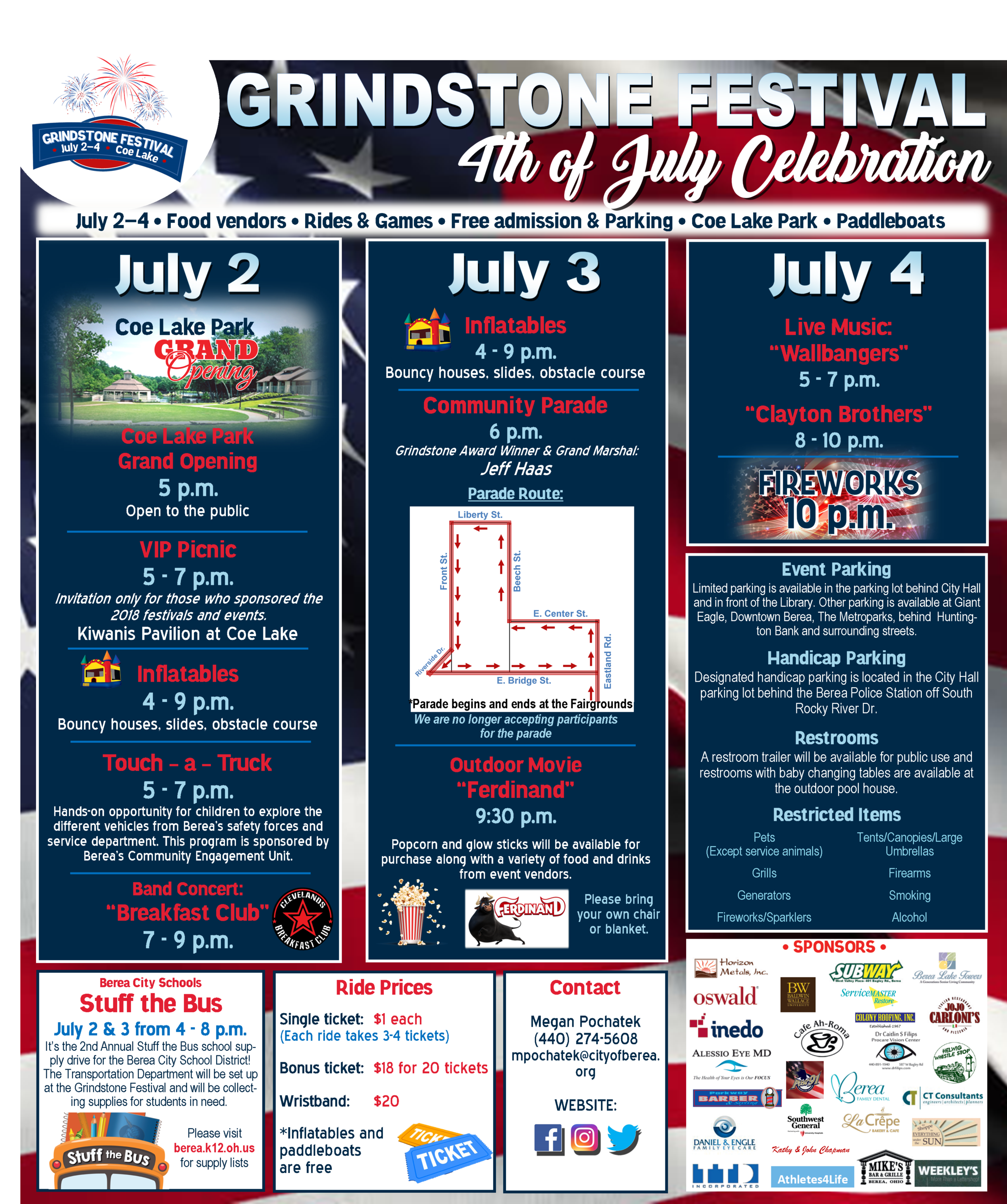 Grindstone Festival Schedule of Events 2018