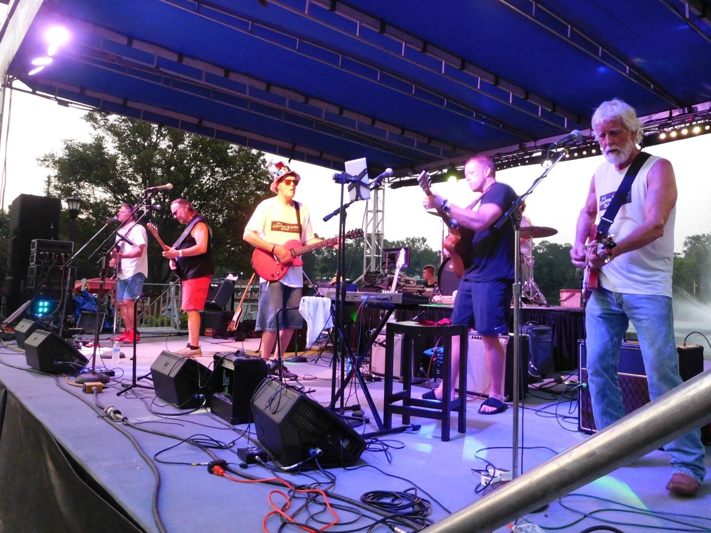 Clayton Brothers Band on Stage at Grindstone Festival