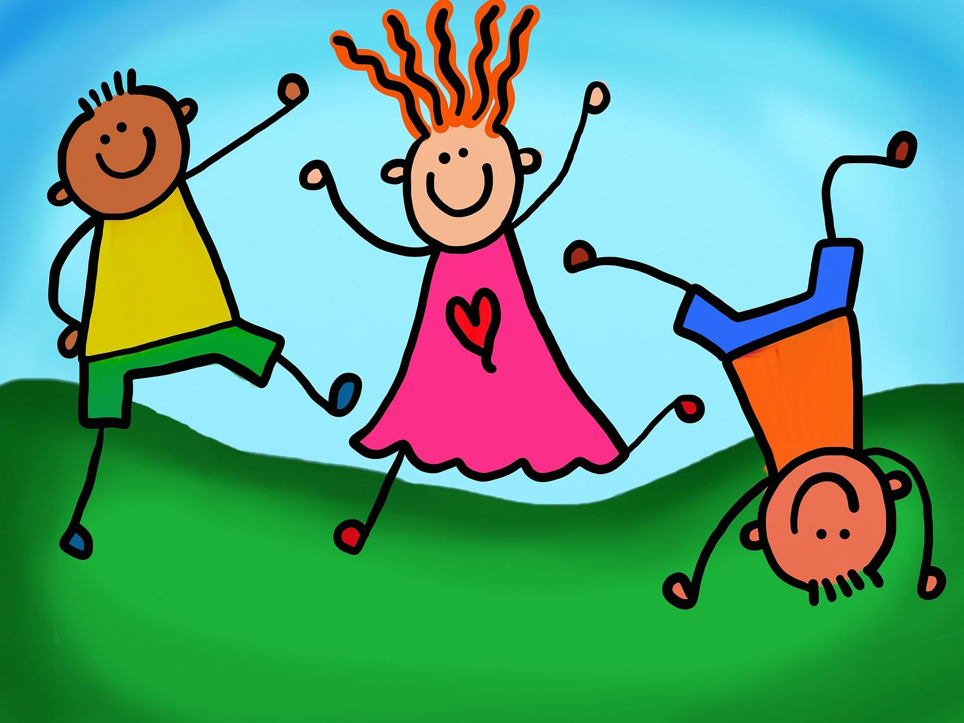 clipart drawing image of kids
