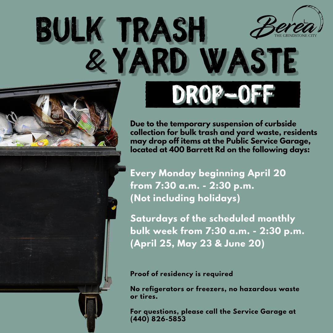 Waste Removal Flyer with picture of garbage can