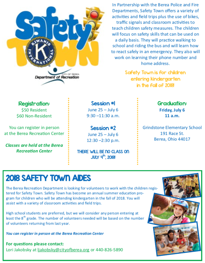 FYI 2018 Safety Town Flyer